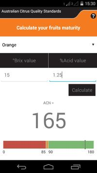 Citrus Maturity Calculator poster