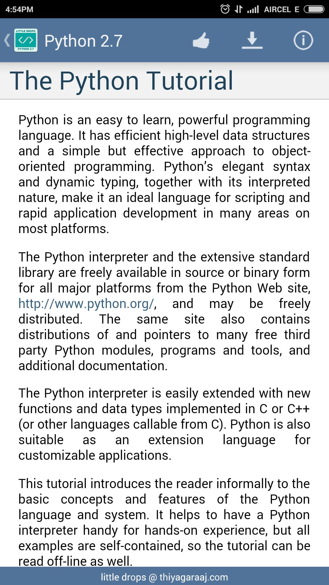 Python Documentation 2 7 for Android - APK Download