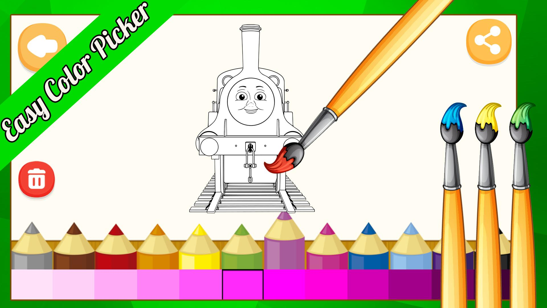 Colorear Para Thomas Trenes Y Sus Amigos For Android Apk