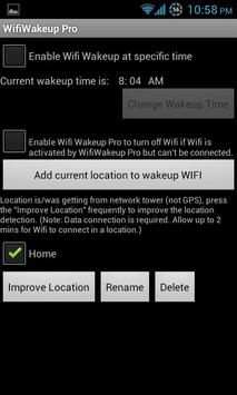 Wifi Wakeup apk screenshot
