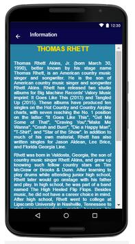 Thomas Rhett - Song And Lyrics apk screenshot