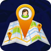 Phone tracker by GPS icon