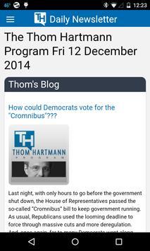 The Thom Hartmann Program apk screenshot