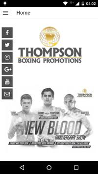 Thompson Boxing Promotions poster
