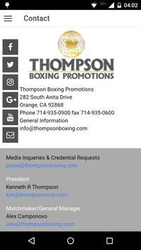 Thompson Boxing Promotions apk screenshot