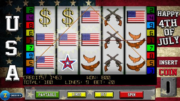 4th of July Slots poster