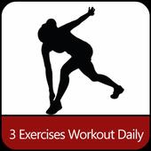 Daily Workout three Exercises icon