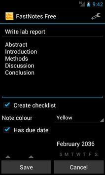 FastNotes Sticky Note Widget screenshot 3