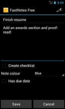 FastNotes Sticky Note Widget screenshot 1