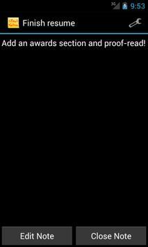 FastNotes Sticky Note Widget screenshot 2