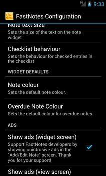 FastNotes Sticky Note Widget screenshot 5