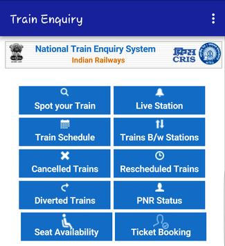 Train Enquiry poster