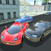 Highway traffic racer 2017 - city car rider 3D icon