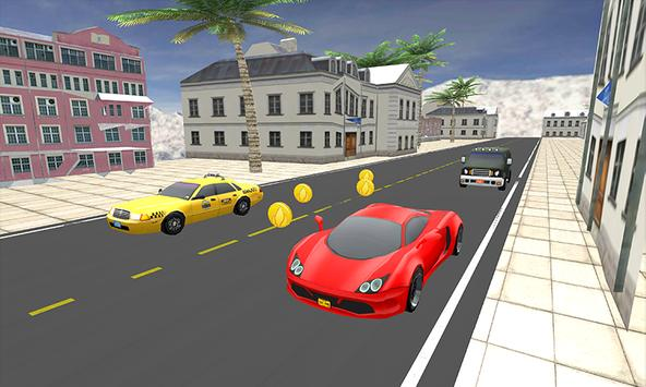 Highway traffic racer 2017 - city car rider 3D apk screenshot