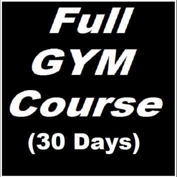 Gym Course 30 days poster