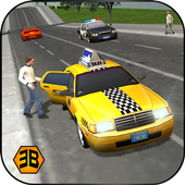 Taxi Driver 2017 - USA City Cab Driving Game icon