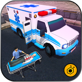 Ambulance rescue simulator 2017 - 911 city driving icon