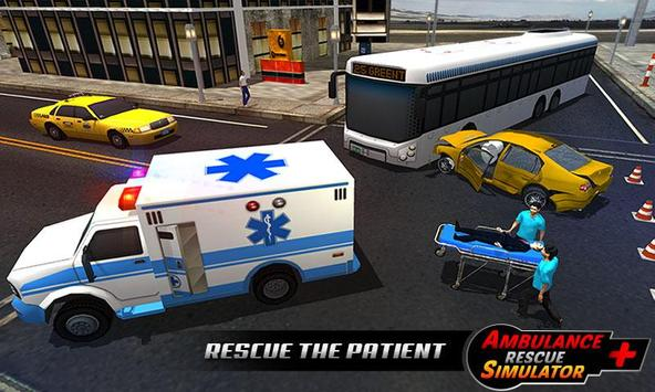 Ambulance rescue simulator 2017 - 911 city driving screenshot 4