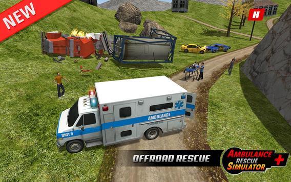 Ambulance rescue simulator 2017 - 911 city driving screenshot 9
