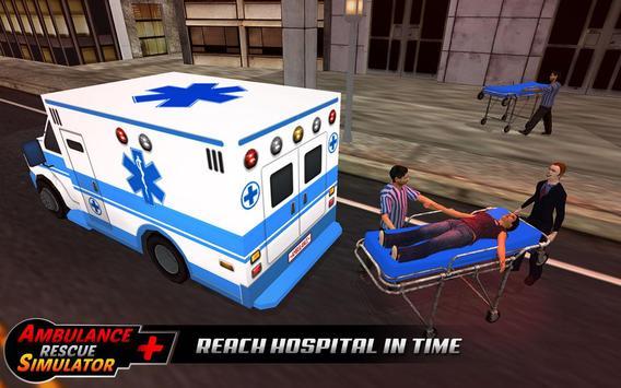 Ambulance rescue simulator 2017 - 911 city driving screenshot 13