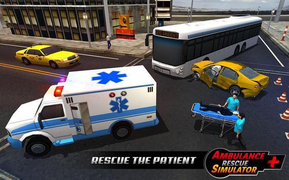 Ambulance rescue simulator 2017 - 911 city driving screenshot 11
