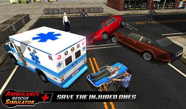 Ambulance rescue simulator 2017 - 911 city driving screenshot 17