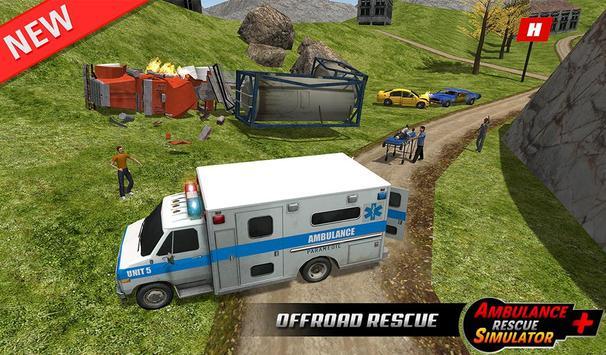 Ambulance rescue simulator 2017 - 911 city driving screenshot 16