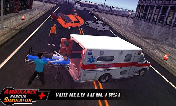 Ambulance rescue simulator 2017 - 911 city driving screenshot 1