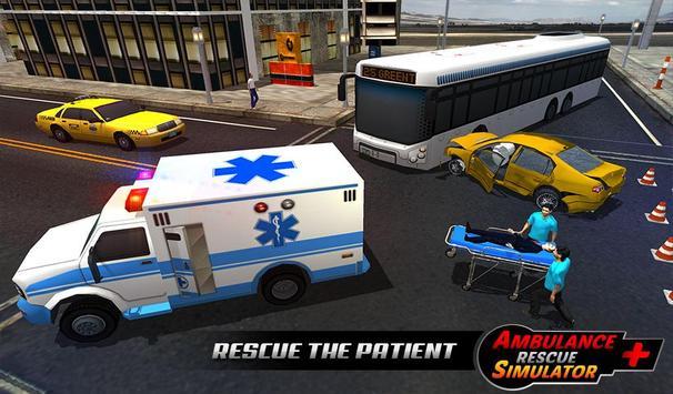 Ambulance rescue simulator 2017 - 911 city driving apk screenshot