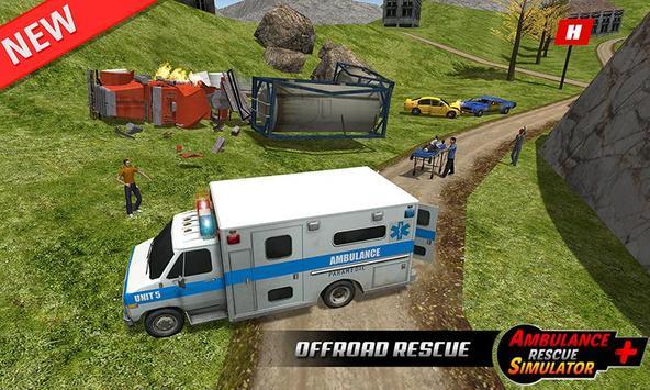 Ambulance rescue simulator 2017 - 911 city driving screenshot 2