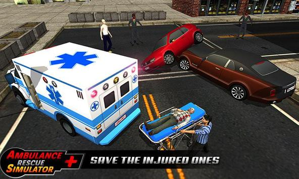 Ambulance rescue simulator 2017 - 911 city driving screenshot 3