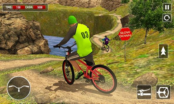 BMX Offroad Bicycle rider Superhero stunts racing poster
