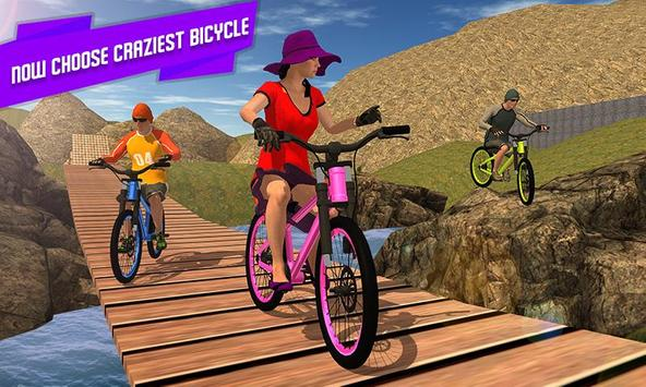 BMX Offroad Bicycle rider Superhero stunts racing screenshot 1