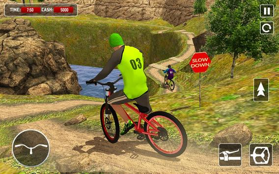 BMX Offroad Bicycle rider Superhero stunts racing screenshot 5