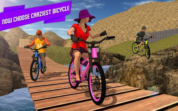 BMX Offroad Bicycle rider Superhero stunts racing screenshot 6