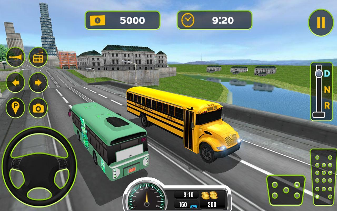 Virtual School Bus Driving Games
