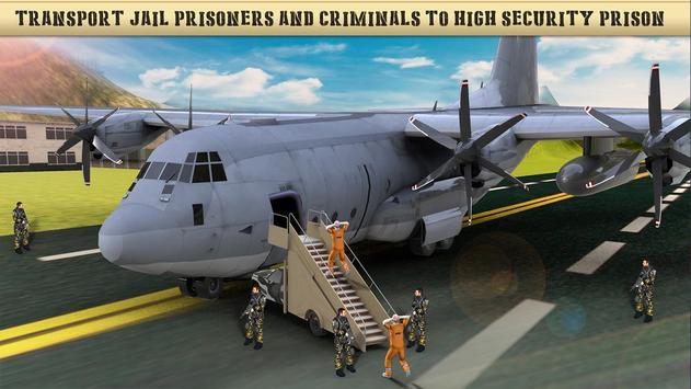 US Army Prisoner Transport Plane - Transport Games screenshot 5
