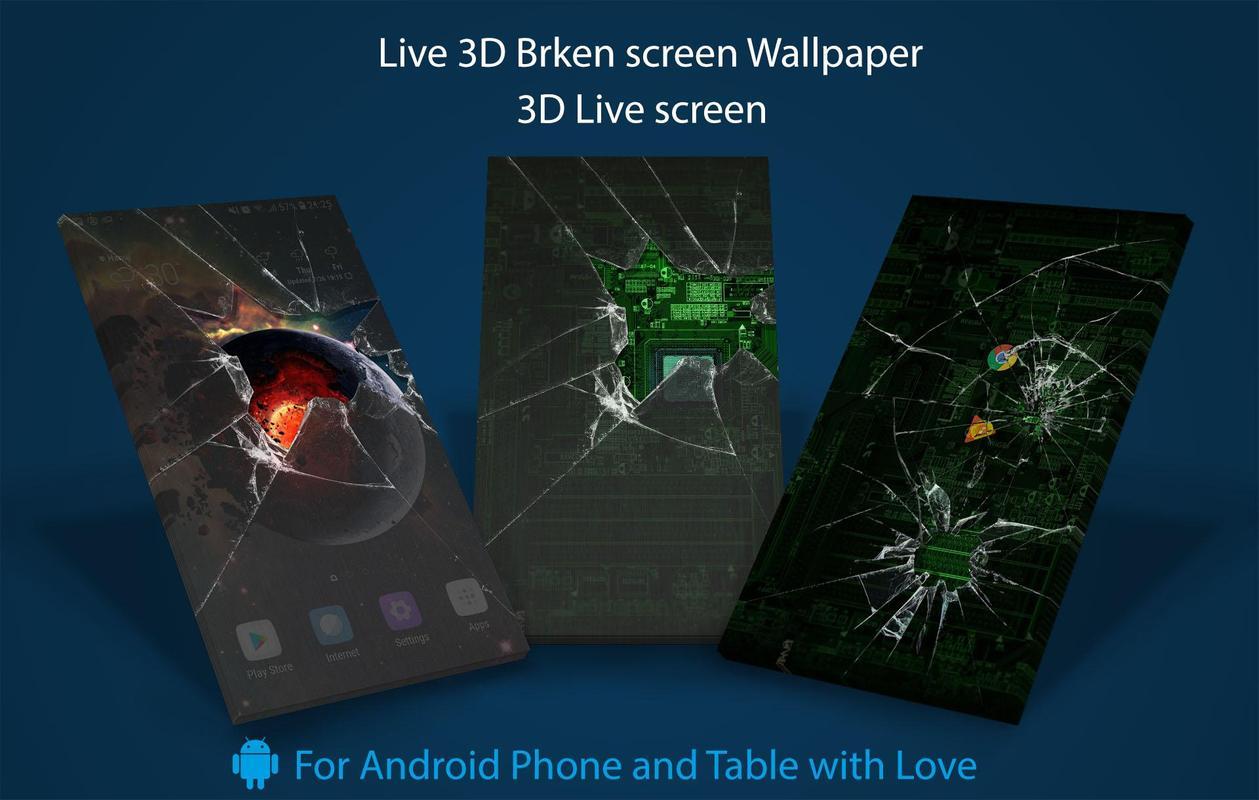 Broken Screen 3D Live Wallpaper Pro Version Screenshot 1
