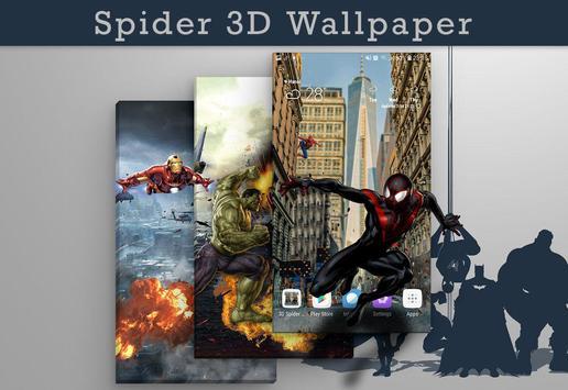 Superheroes 3D Spider Live Wallpaper Premium Free poster