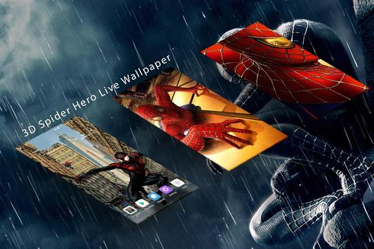 Superheroes 3D Spider Live Wallpaper Premium Free screenshot 1