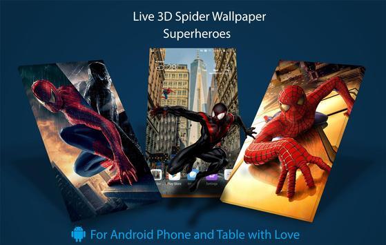 Superheroes 3D Spider Live Wallpaper Premium Free screenshot 2