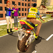 Sports Bike Taxi Sim 3D - Free Taxi Driving Games icon