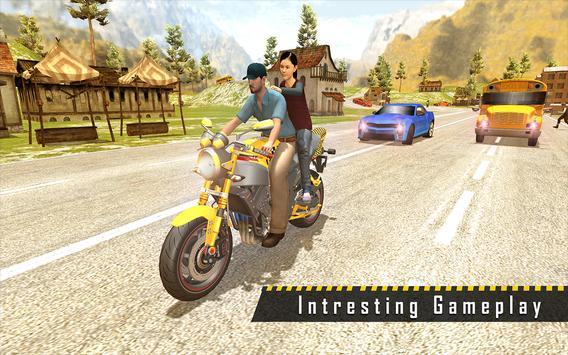Sports Bike Taxi Sim 3D - Free Taxi Driving Games screenshot 7