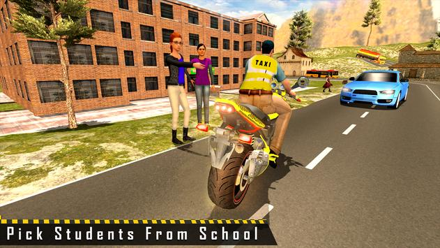 Sports Bike Taxi Sim 3D - Free Taxi Driving Games poster