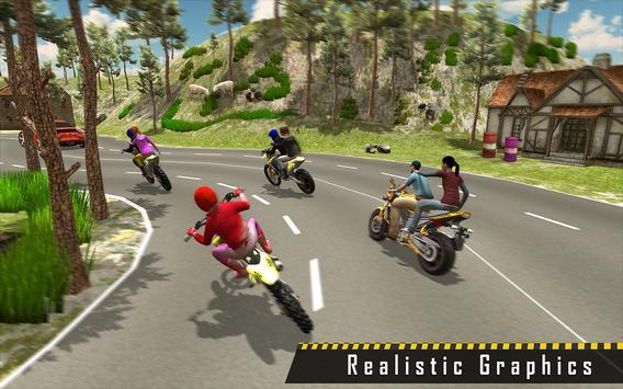 Sports Bike Taxi Sim 3D - Free Taxi Driving Games screenshot 11