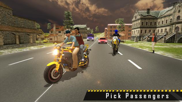Sports Bike Taxi Sim 3D - Free Taxi Driving Games screenshot 3