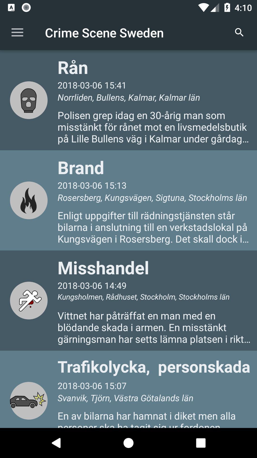 Crime Alert Sweden for Android - APK Download