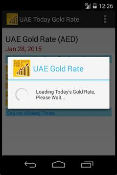 UAE Gold Price(AED) Today apk screenshot
