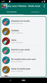 Soy Luna 3 Songs - Modo Amar screenshot 2