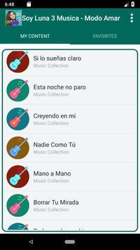 Soy Luna 3 Songs - Modo Amar screenshot 3